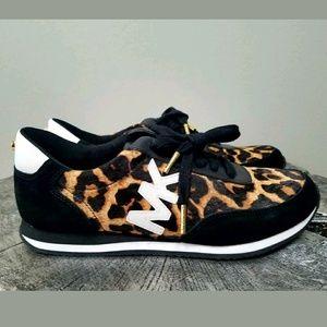 Michael kors leopard print leather shoes